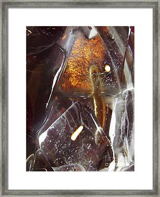 Abstract Ice 4 Framed Print by Sarah Loft