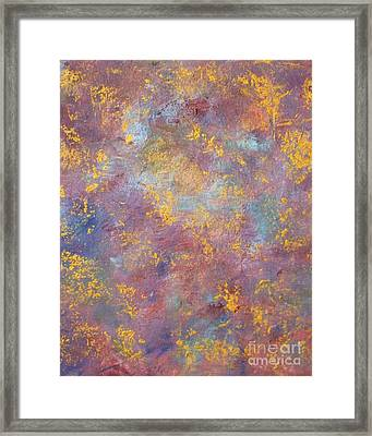 Abstract Impressions Framed Print by Donna Dixon
