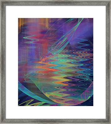 Abstract In Blue And Purple Framed Print by Jane McIlroy