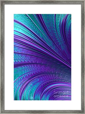 Abstract In Blue And Purple Framed Print