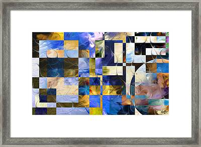 Abstract In Blue And White Framed Print by Curtiss Shaffer