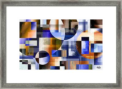 Framed Print featuring the painting Abstract In Blue by Curtiss Shaffer