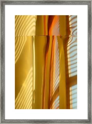 Abstract In Brass - 3 - Historic Library Building - Omaha Nebraska Framed Print
