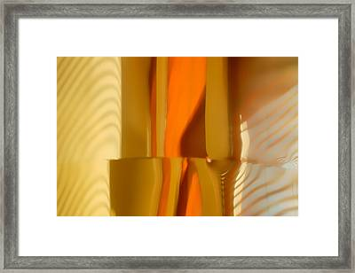 Abstract In Brass - 4 - Historic Library Building - Omaha Nebr Framed Print