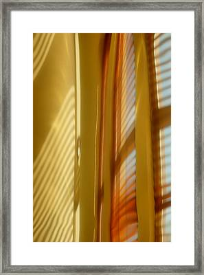 Abstract In Brass 5 - Historic Library Building - Omaha Nebr Framed Print