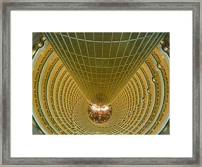Abstract In Gold Framed Print by Alan Socolik