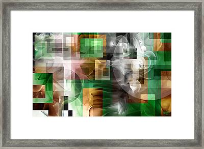 Framed Print featuring the painting Abstract In Green by Curtiss Shaffer