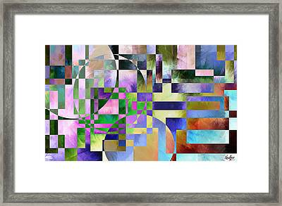 Framed Print featuring the painting Abstract In Lavender by Curtiss Shaffer