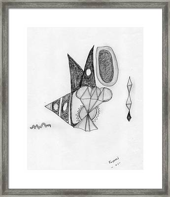 Abstract In Pencil Framed Print by Dan Twyman