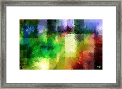 Framed Print featuring the painting Abstract In Primary by Curtiss Shaffer