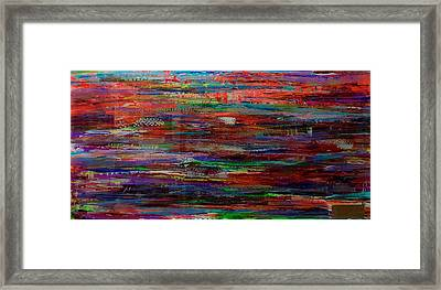 Abstract In Reflection Framed Print