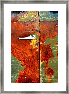 Abstract In Rust 24 Framed Print