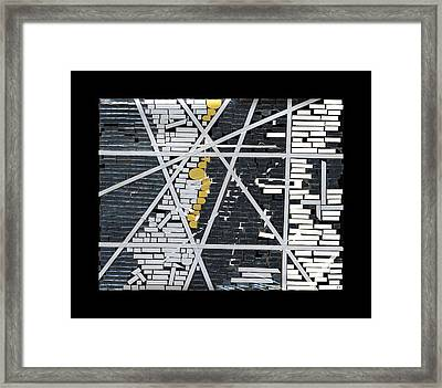 Abstract In Tape And Letterforms 5 Framed Print by Agustin Goba
