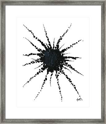 Abstract In Tape And Letterforms Three Framed Print by Agustin Goba