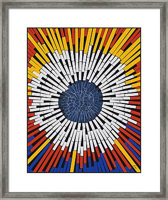 Abstract In Tape - Starburst Framed Print by Agustin Goba
