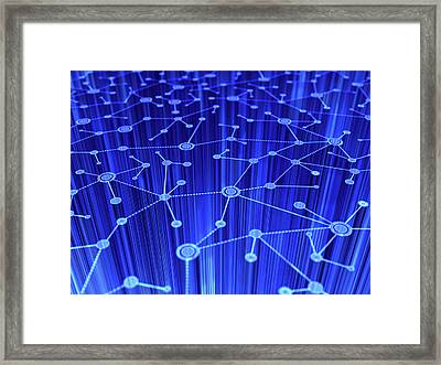 Abstract Internet Framed Print by Enot-poloskun