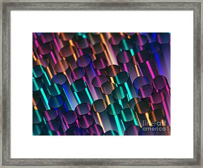 Abstract Inverted Straws Framed Print