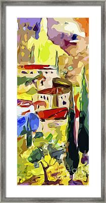 Abstract Italy Lago Di Como Framed Print