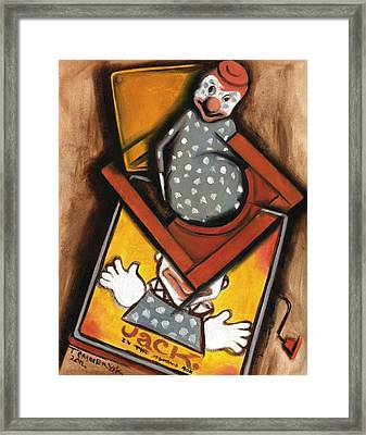 Abstract Jack In The Box Art Print Framed Print by Tommervik