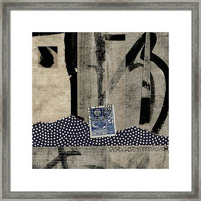 Abstract Japanese Collage Framed Print by Carol Leigh