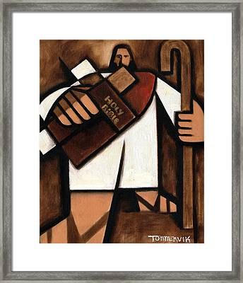 Tommervik Abstract Jesus Art Print Framed Print