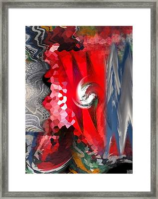 Framed Print featuring the digital art Abstract by Kelly McManus