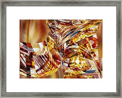 Kimono Silk -  Abstract Art Framed Print