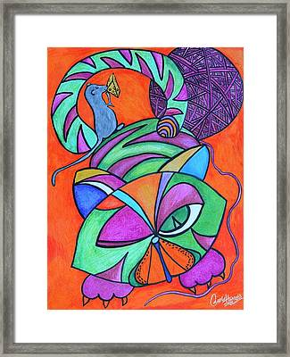 Abstract Kitty Galore Framed Print by Carol Hamby
