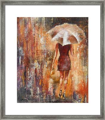 Abstract Lady 3  Framed Print by Susan Goh