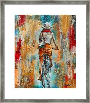 Abstract Lady 4  Framed Print by Susan Goh