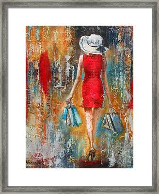 Abstract Lady 6 Framed Print by Susan Goh