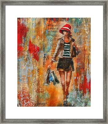 Abstract Lady 7 Framed Print by Susan Goh