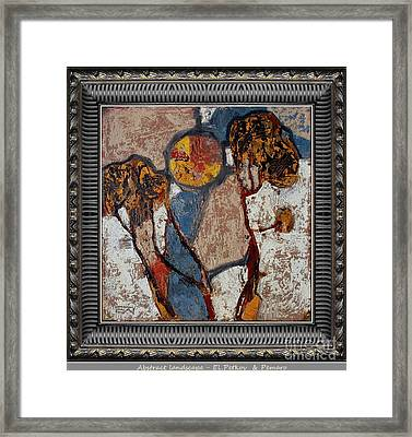 Abstract Landscape Abln295 Framed Print by El Petkov and Pemaro