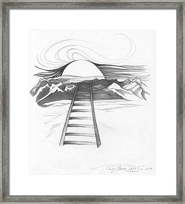 Abstract Landscape Art Black And White Baby Please Don't Go By Romi Framed Print
