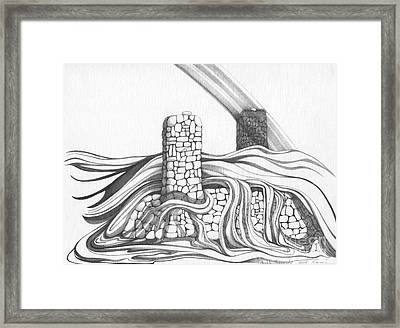 Abstract Landscape Art Black And White Home Double Jeopardy By Romi Framed Print