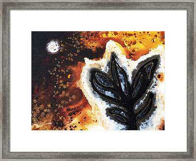 Abstract Landscape Art - New Growth - By Sharon Cummings Framed Print by Sharon Cummings