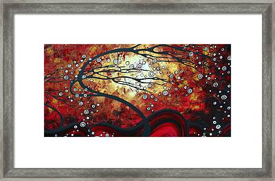 Abstract Landscape Art Original Painting Where Dreams Are Born By Madart Framed Print by Megan Duncanson