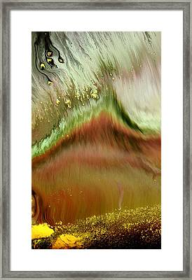 Abstract Landscape Layers Of Beauty By Kredart Framed Print