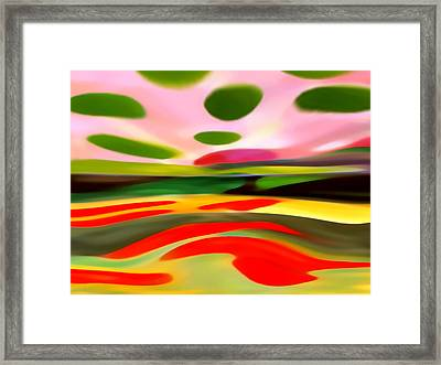 Abstract Landscape Of Happiness Framed Print by Amy Vangsgard