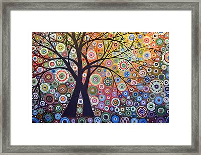 Abstract Landscape Painting ... Magic Garden Framed Print