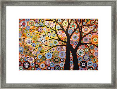 Abstract Landscape Painting ... Twin Desires Framed Print by Amy Giacomelli