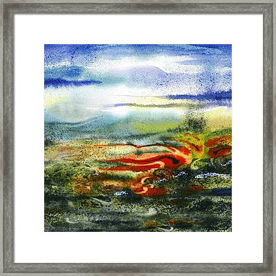 Abstract Landscape Red River Framed Print