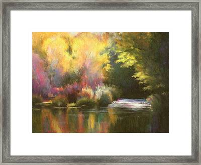 Abstract Landscape Framed Print by Renee Skiba
