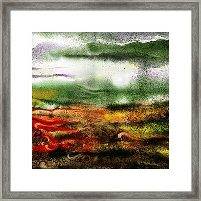 Abstract Landscape Sunrise Sunset Framed Print