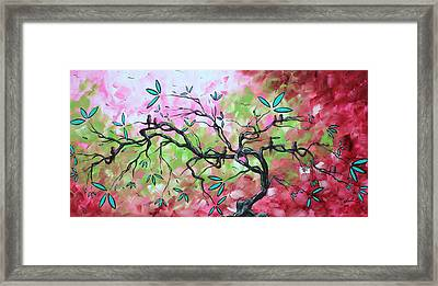 Abstract Landscape Sweet Sounds Of Spring By Madart Framed Print by Megan Duncanson