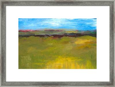 Abstract Landscape - The Highway Series Framed Print by Michelle Calkins