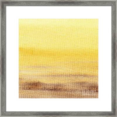 Abstract Landscape Yellow Glow Framed Print by Irina Sztukowski
