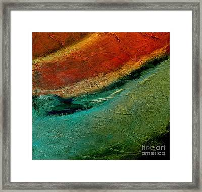 Abstract Layers Two Framed Print by Marsha Heiken