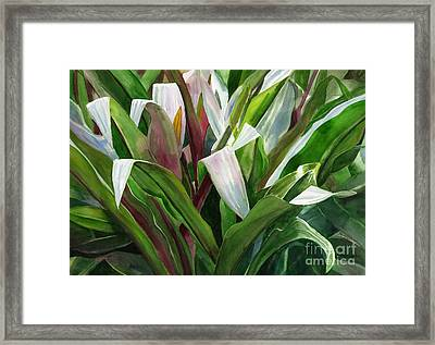 Abstract Leaf Design Framed Print