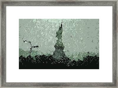 Abstract Liberty On 9/11 Framed Print by Kosior